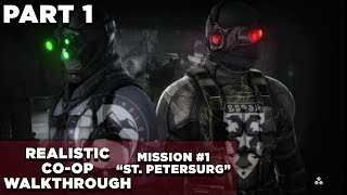 Splinter Cell: Conviction CO-OP Walkthrough | Realistic | GHOST | Mission #1