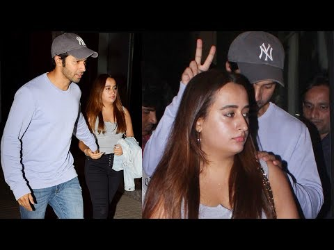 connectYoutube - Varun Dhawan SPOTTED With Girlfriend Natasha Dalal On A Date