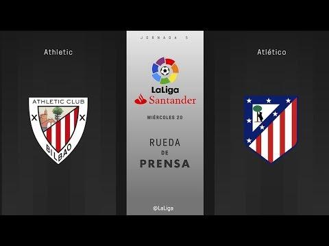 Rueda de prensa Athletic vs Atlético