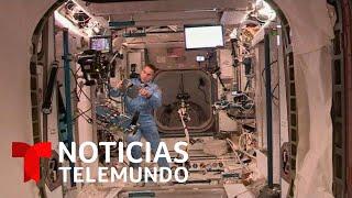 Los astronautas en la cápsula Crew Dragon se preparan entran a la Estación Espacial Internacional