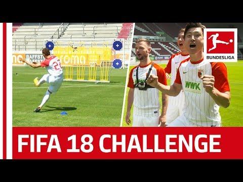 Koo, Ji & Co. - EA SPORTS FIFA 18 Bundesliga Free Kick Challenge - FC Augsburg