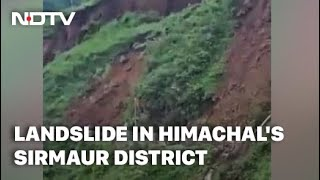 Watch Dramatic Road Collapse After Landslide In Himachal Pradesh - NDTV