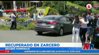 Zarcero rinde homenaje a vecino que se recupera del Covid 19