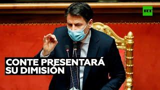 El primer ministro italiano Giuseppe Conte presentará su dimisión este martes