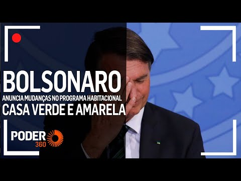 Ao vivo: Bolsonaro anuncia mudanças no Casa Verde e Amarela