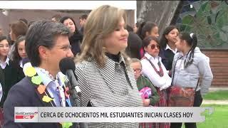Cerca de 800 mil estudiantes regresaron a clases este lunes en Bogotá