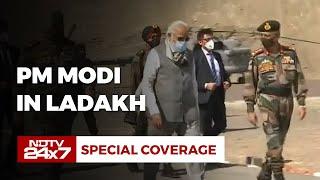 PM Visits Ladakh, Chief of Defence Staff Gen Bipin Rawat Present | NDTV 24x7 LIVE - NDTV