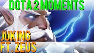 Dota 2 Moments - Juking ft. Zeus