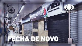 Comércio é obrigado a fechar as portas de novo em Goiânia