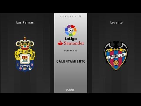 Calentamiento Las Palmas vs Levante