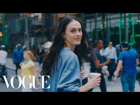 Walking New York City with Model Sarah Brannon   Vogue