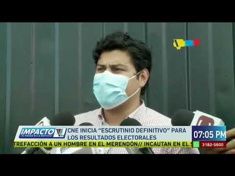 CNE inicia escrutinio definitivo para los resultados electorales