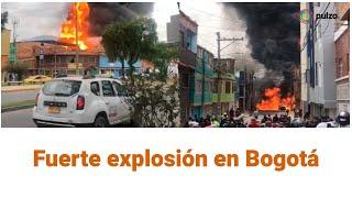 Registran incendio y explosión en una fábrica del sur de Bogotá