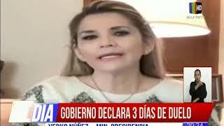Gobierno declara 3 días de duelo por muerte de Oscar Urenda