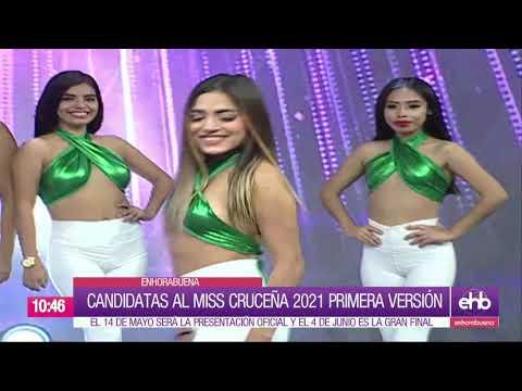 Candidatas al Miss Cruceña primera versión