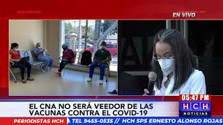 CNA no será veedor de la compra de las vacunas contra Covid19