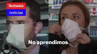 Los colombianos no saben usar tapabocas (se repite la historia) | Semana Noticias