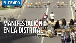 Resumen de la jornada de manifestaciones en la Universidad Distrital