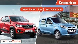 Maruti Alto 800 VS Renault Kwid | Comparison Video | CarDekho.com