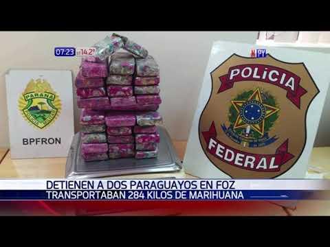Arrestan a dos paraguayos en Foz por presuntamente transportar estupefacientes