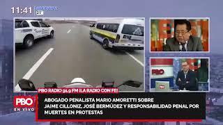 Mario Amoretti sobre Jaime Cilloniz, José Bermúdez y responsabilidad penal por muertes en protestas????