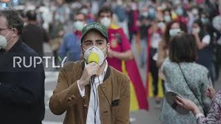 Spain: Anti-govt. protesters flood Madrid demanding PM Sanchez