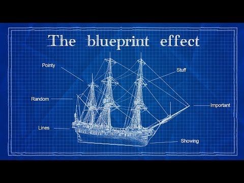 Blueprint Effect | Photoshop Tutorial