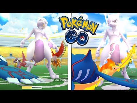¡TODOS LOS POKÉMON LEGENDARIOS CONTRA MEWTWO en Pokémon GO! [Keibron]