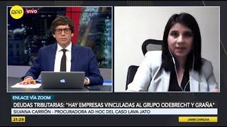 """Deudas tributarias: """"Hay empresas vinculadas al grupo Odebrecht y Graña"""""""