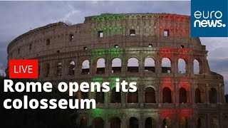Rome reopens colosseum   LIVE