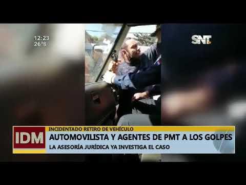 Automovilista y agente de la PMT a los golpes en Asunción