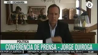 Jorge Tuto Quiroga en conferencia de prensa
