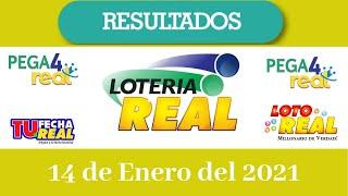 Resultados de la Lotería Real  de hoy 14 de Enero del 2021