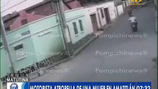 Motorista atropelló a una mujer en Amatitlán