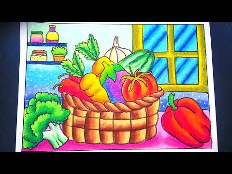 Cara Menggambar Dan Mewarnai Gradasi Dengan Oilpastel Crayon