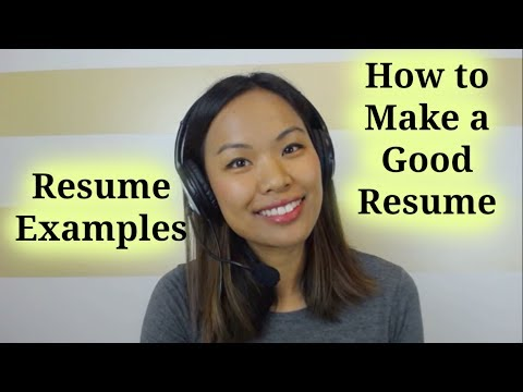 Resume Examples – How to Make a Good Resume