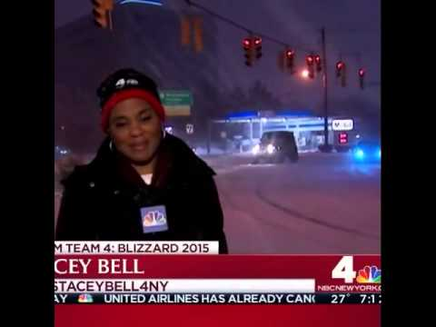 Skidding Car Almost Makes TV Reporter First Casualty Of Murder Death Storm 2015