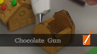 Chocolate gun dispenses edible molten chocolate