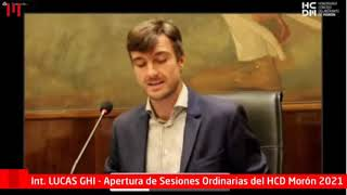 LUCAS GHI HABLÓ ANTE EL CONCEJO DELIBERANTE Y EXPLICÓ POR QUÉ HAY CALLES ROTAS EN MORÓN