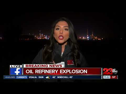 connectYoutube - Oil Refinery fire near Lamont