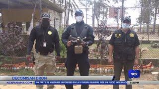 Unidades policiales decomisan dron