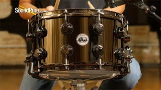 DW 8x14 Collector's Black Nickel Over Brass, Black—Quick 'n' Dirty