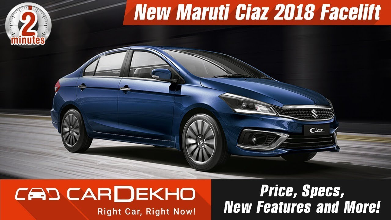 New Maruti Ciaz 2018 Facelift | Price, Specs, New Features and More!