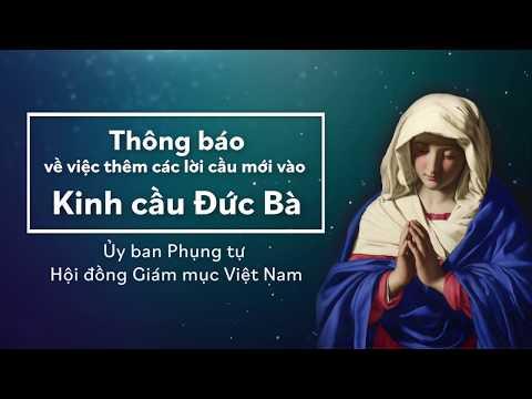 Thông báo về việc thêm các lời cầu mới vào Kinh cầu Đức Bà