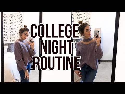 connectYoutube - REAL COLLEGE NIGHT ROUTINE 2017 | Natalie Barbu