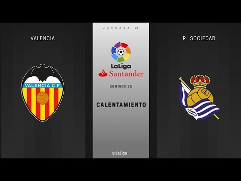 Calentamiento Valencia vs R. Sociedad