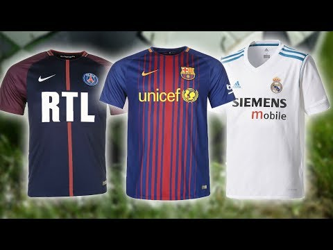 20 Champions League Kits With Classic Sponsors 2017/18