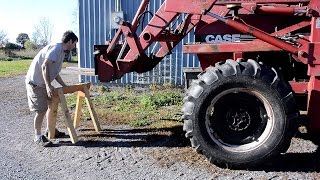 Tractor vs. sawhorse