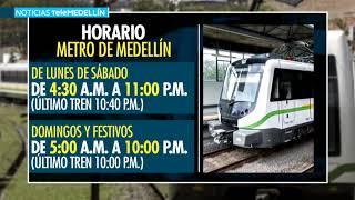 A partir de mañana el Metro vuelve a su horario habitual - Telemedellín