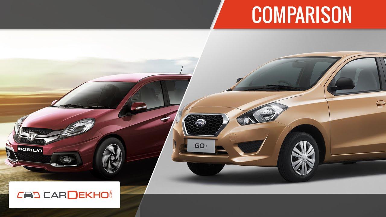 Honda Mobilio Vs Datsun Go+   Comparison Video   CarDekho.com